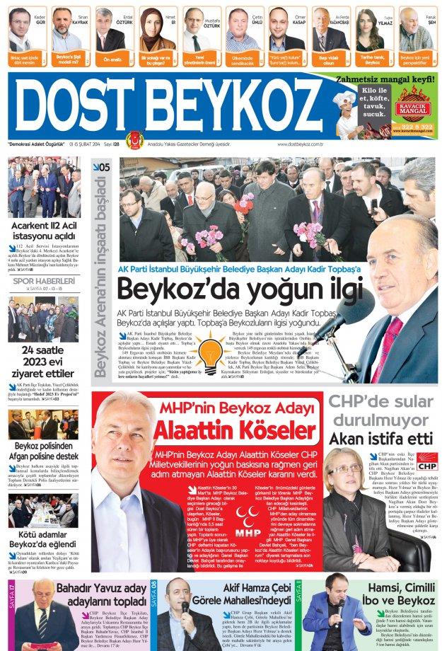 Dost Beykoz Gazetesi Şubat 2014/1 - 128. Sayı