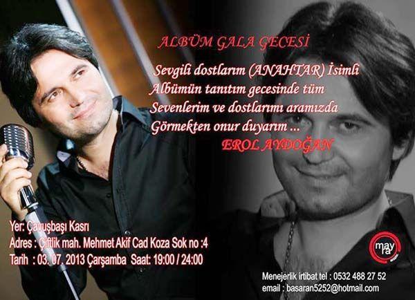 Erol Aydoğan'ın ilk albümü, 'Anahtar' çıktı