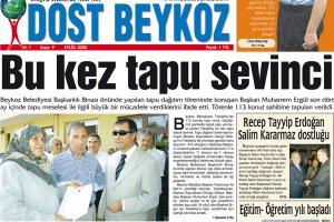 Dost Beykoz Gazetesi Eylül 2005... 9. Sayı