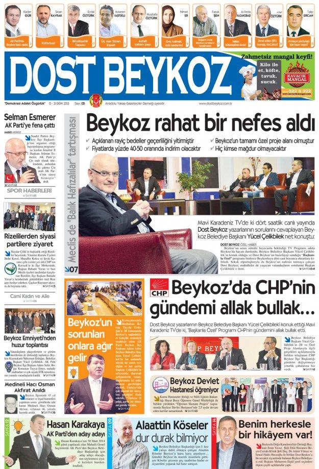 Dost Beykoz Gazetesi Ekim 2013/2... 121. Sayı