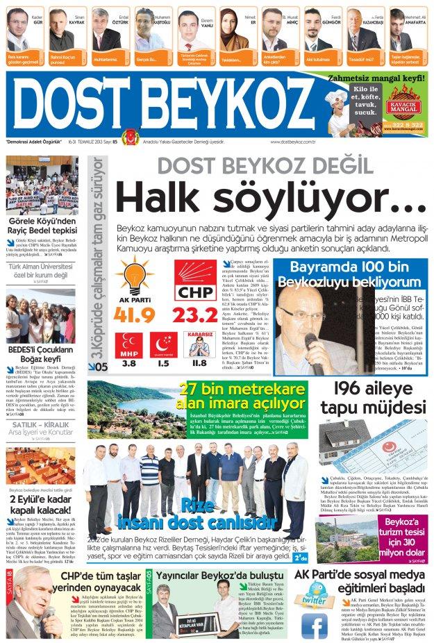 Dost Beykoz Gazetesi Temmuz 2013/2... 115. Sayı