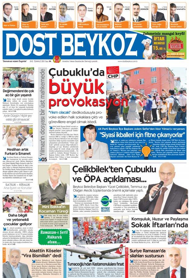 Dost Beykoz Gazetesi Temmuz 2013/1... 114. Sayı