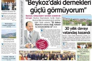 Dost Beykoz Gazetesi Mayıs 2012.. 91. Sayı
