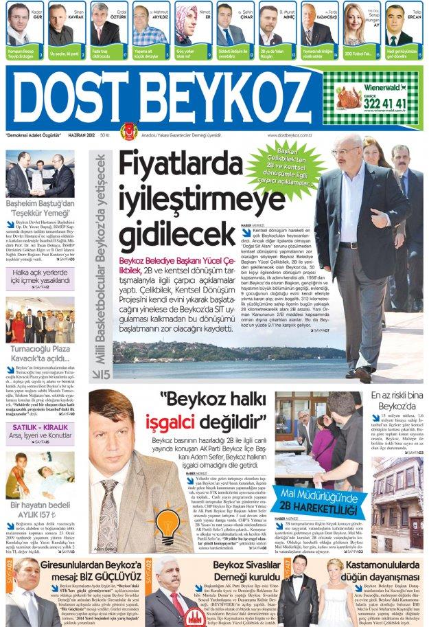 Dost Beykoz Gazetesi Haziran 2012.. 92. Sayı