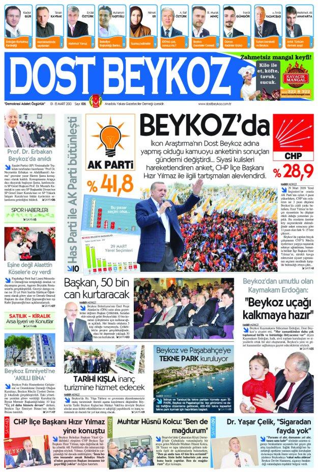 Dost Beykoz Gazetesi Mart 2013/1... 106. Sayı