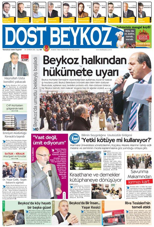 Dost Beykoz Gazetesi Nisan 2013/1... 108. Sayı