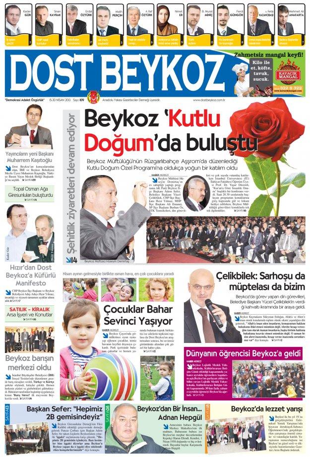Dost Beykoz Gazetesi Nisan 2013/2... 109. Sayı