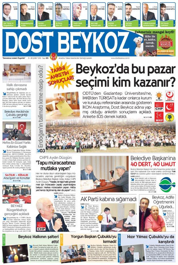 Dost Beykoz Gazetesi Şubat 2013/2... 105. Sayı