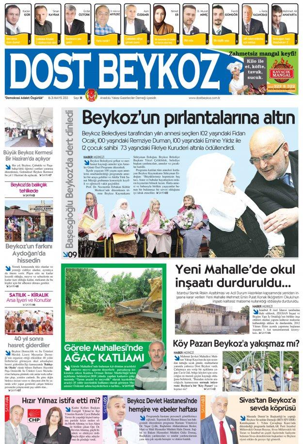 Dost Beykoz Gazetesi Mayıs 2013/2... 111. Sayı