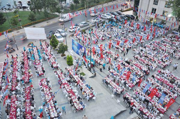 Beykoz'da 2300 kişi aynı sofradaydı