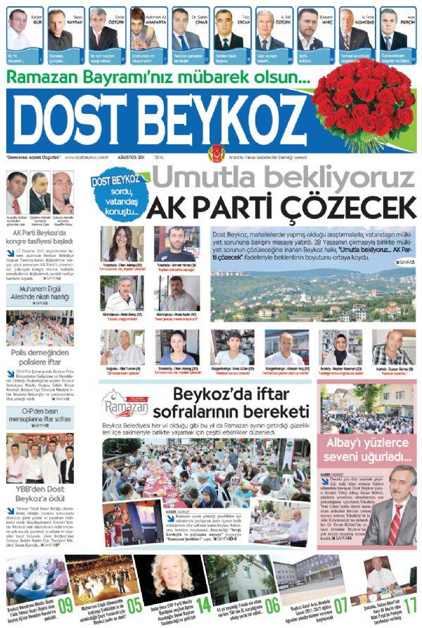 Dost Beykoz Gazetesi Ağustos 2011... 82. Sayı