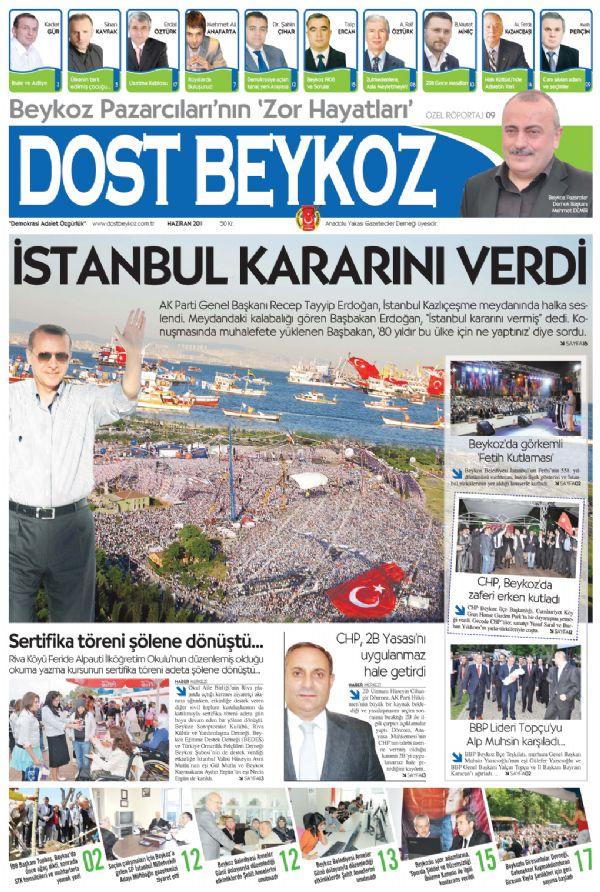 Dost Beykoz Gazetesi Haziran 2011... 80. Sayı
