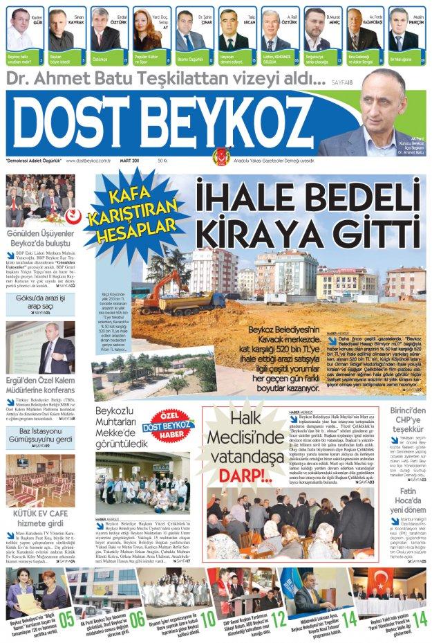 Dost Beykoz Gazetesi Mart 2011... 77. Sayı