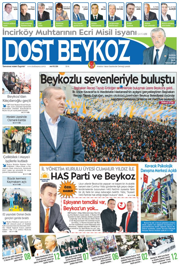 Dost Beykoz Gazetesi Mayıs 2011... 79. Sayı