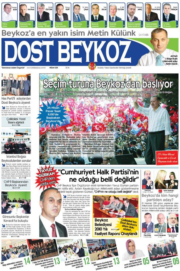 Dost Beykoz Gazetesi Nisan 2011... 78. Sayı
