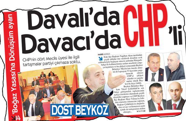 CHP Beykoz'da anketlerle sarsıldı