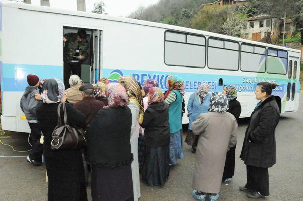 Tokatköy'de sağlık taraması yapıldı