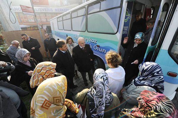 Beykoz Belediyesi'nin sağlık otobüsü 10 bin 350 kişiye ulaştı