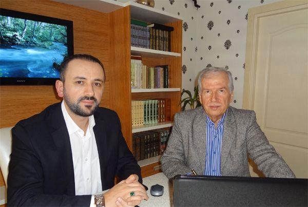 Yazar Raif Öztürk Kur'an merkezi'ni gezdi