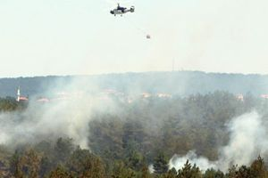 Çavuşbaşı'nda 1 saatlik orman yangını