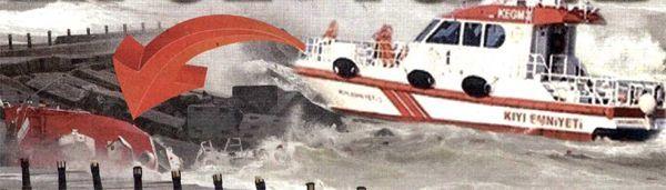 Beykoz'da gemi faciası gece atlatıldı