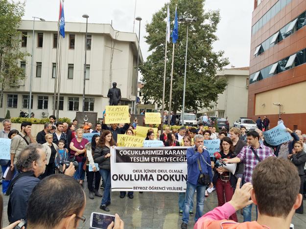 Beykoz'da İmam Hatip eylemine CHP desteği
