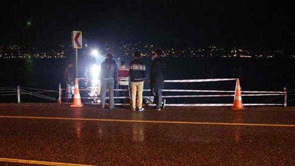 Beykoz'da minibüs denize uçtu!