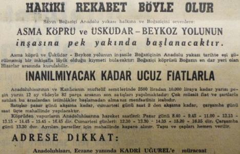 1957 yılında Kanlıca'da 2.500 liraya arsa!