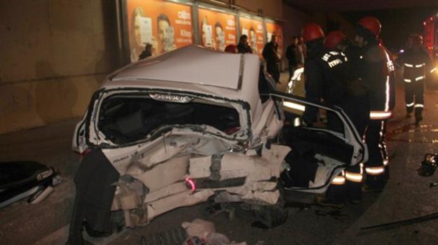 Rüzgarlıbahçe Köprüsü'nde trafik kazası: 1 ölü