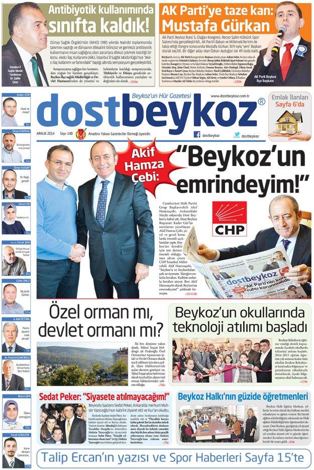 Dost Beykoz Gazetesi Aralık 2014... 140. Sayı
