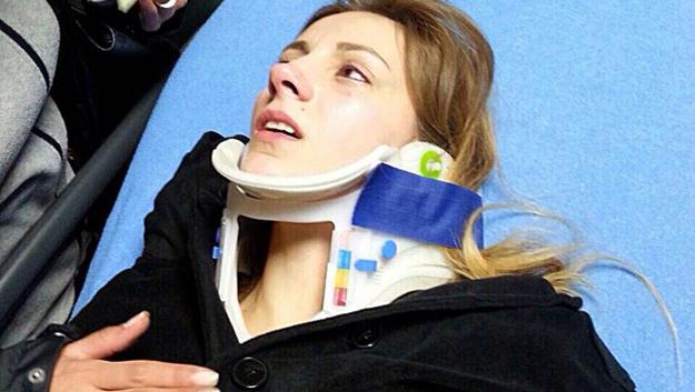 Dizi oyuncuları Cumhuriyetköy sapağında kaza yaptı