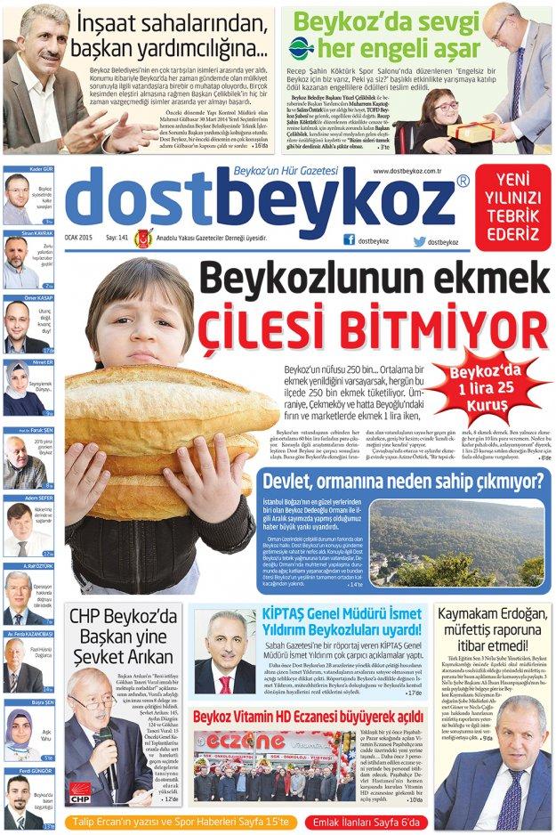 Dost Beykoz Gazetesi Ocak 2015... 141. Sayı