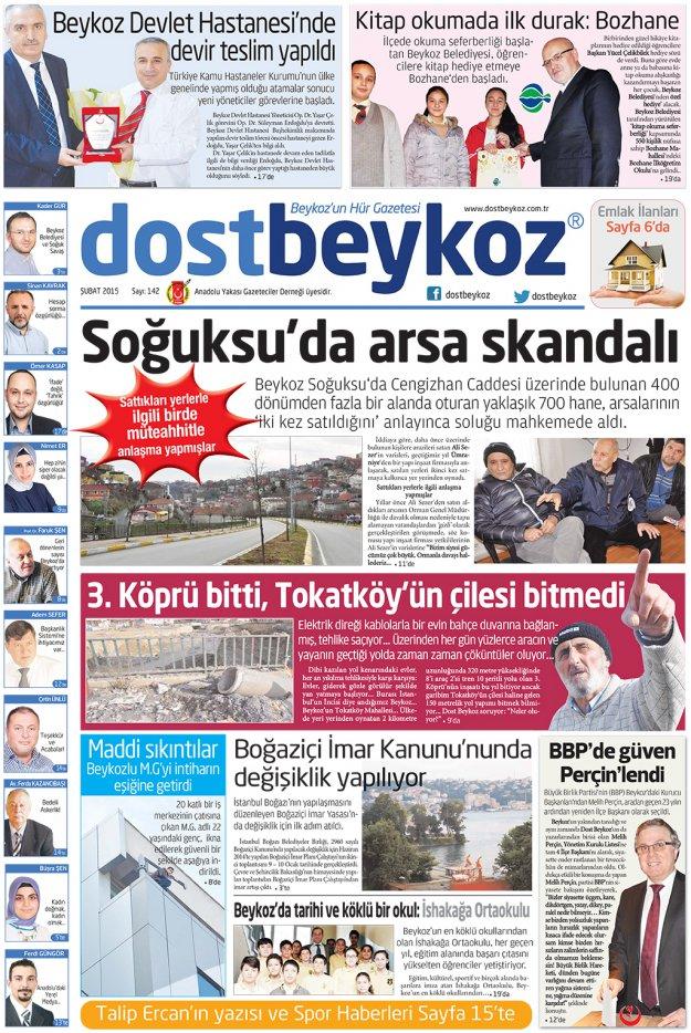 Dost Beykoz Gazetesi Şubat 2015... 142. Sayı