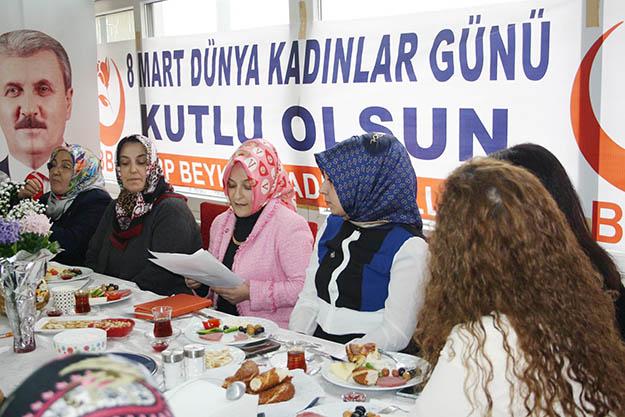BBP Beykoz, 8 Mart'ta kadın partilileri ağırladı
