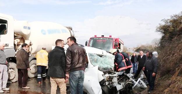 Beykoz Çavuşbaşı yolunda mazot kazası