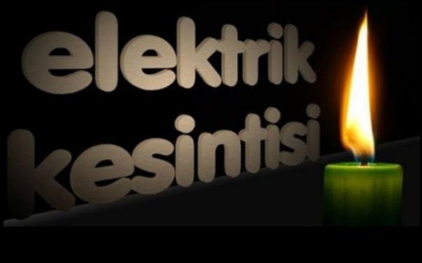 Çubuklu'da elektrik kesintisi (yarın)