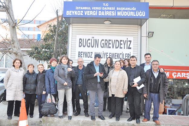 Beykoz Vergi Dairesi'nde bugün grev vardı