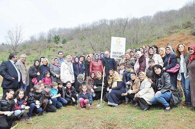 Beykoz Tokatköy'de Kadın Kolları'ndan AK Parti Ormanı