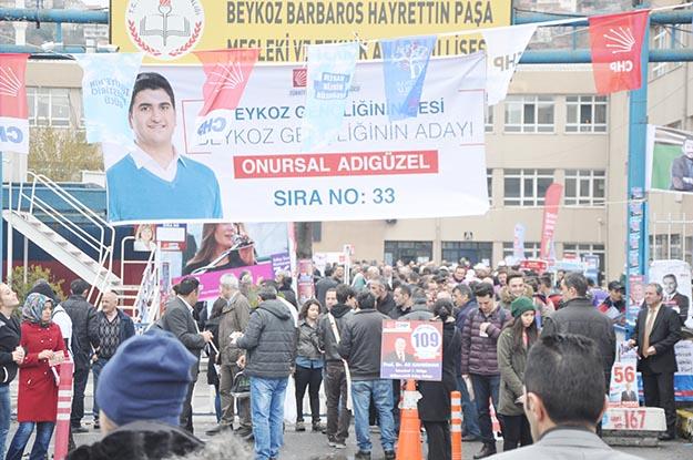 CHP Beykoz'da Ön seçim için Pazar mesaisi