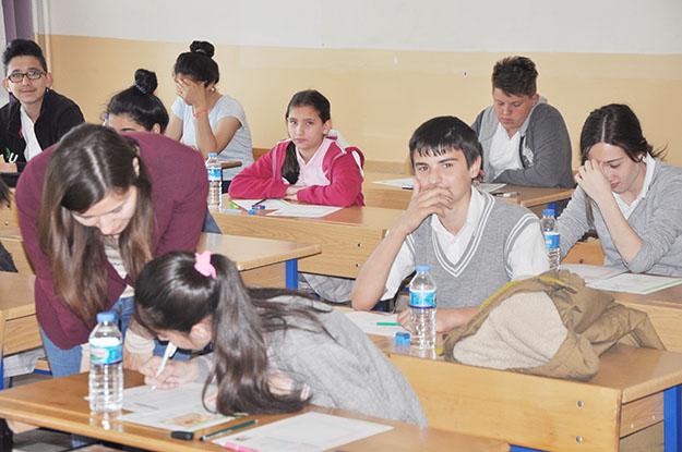 Beykoz'da öğrenciler TEOG heyecanı yaşadı