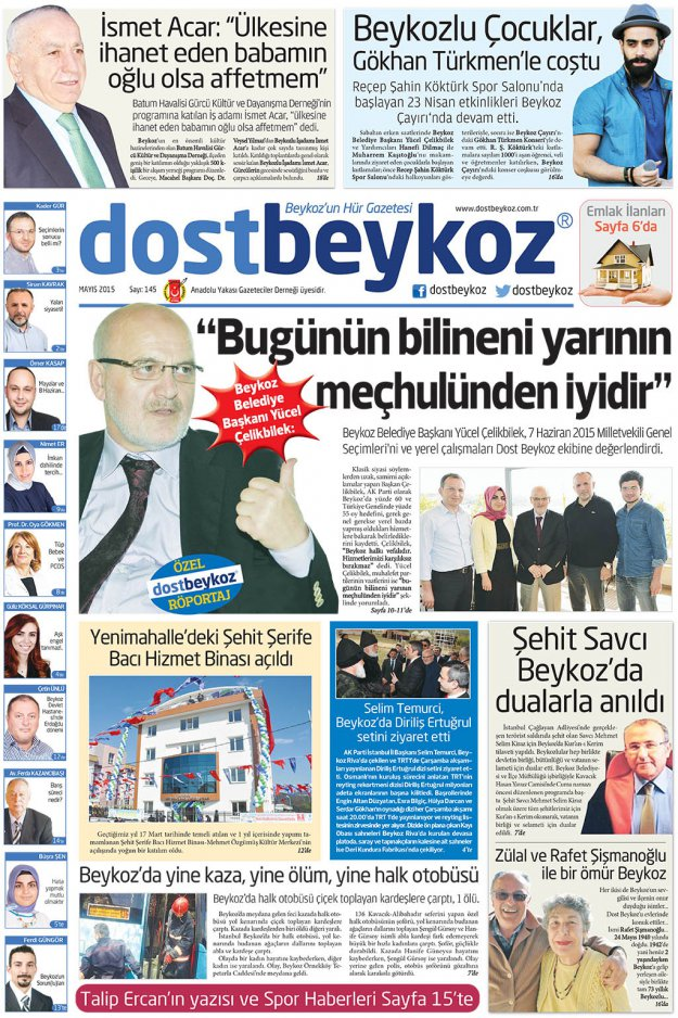 Dost Beykoz Gazetesi Mayıs 2015... 145. Sayı