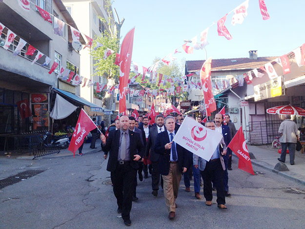 İttifak Beykoz'da yürüyüşe geçti