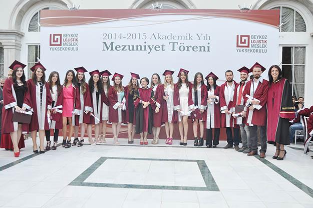 Beykoz Lojistik 2015 mezunlarını coşkuyla uğurladı