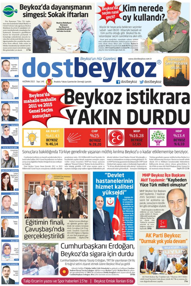 Dost Beykoz Gazetesi Haziran 2015... 146. Sayı