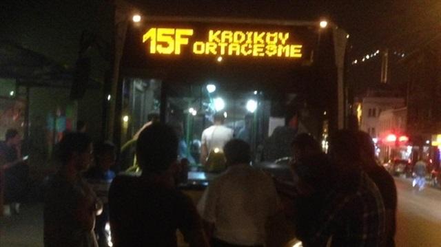 Beykoz'un 15F şoföründen protesto