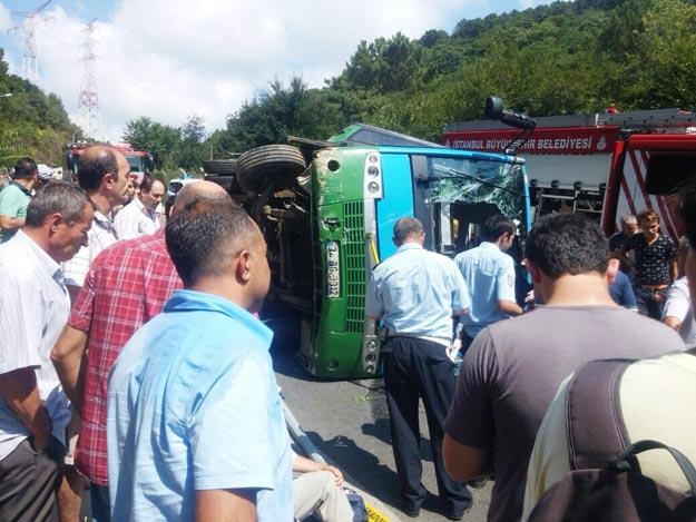 Beykoz'da yine Halk Otobüsü kazası