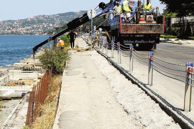 Beykoz Çubuklu sahil yolu projesi ilerliyor