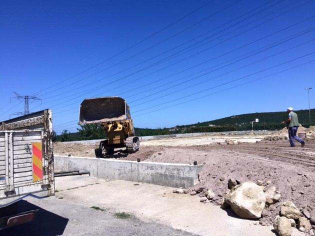 Örnekköy'de saha çalışması başladı