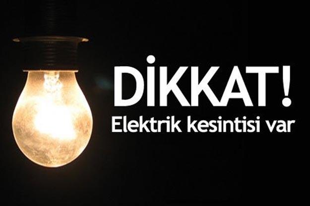 Elektrikler yarın kesilecek