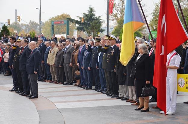 Ata'ya saygı Beykoz'da hayatı durdurdu!
